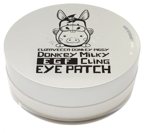 Патчи для глаз биоцеллюлозные Elizavecca Donkey Piggy Milky EGF Cling Eye Patch, 70гр.