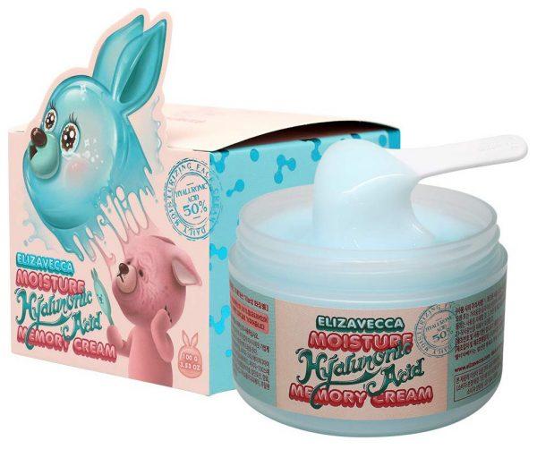 Крем для лица увлажняющий гиалуроновый Elizavecca moisture hyaluronic acid memory cream 100гр