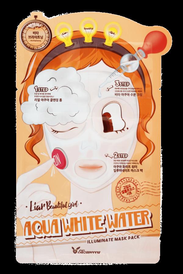 Маска увлажняющая 3-ступенчатая Elizavecca 3-step Aqua White Water Mask Pack, 1шт