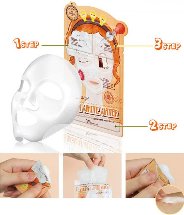 Маска увлажняющая 3-ступенчатая Elizavecca 3-step Aqua White Water Mask Pack
