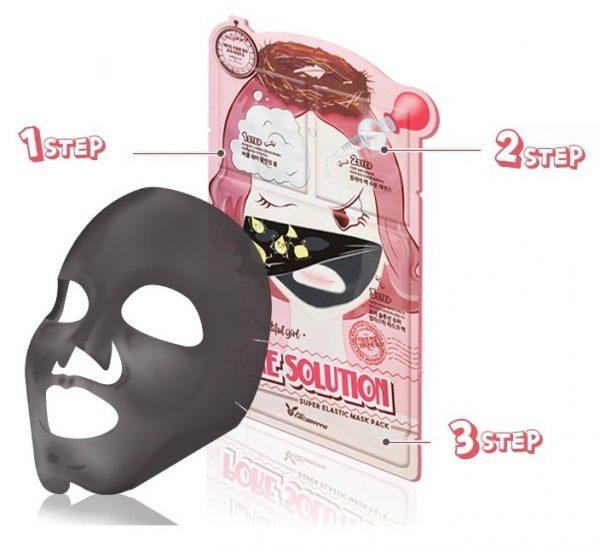Маска для проблемной кожи 3-х шаговая Elizavecca Pore Solution Super Elastic Mask Pack
