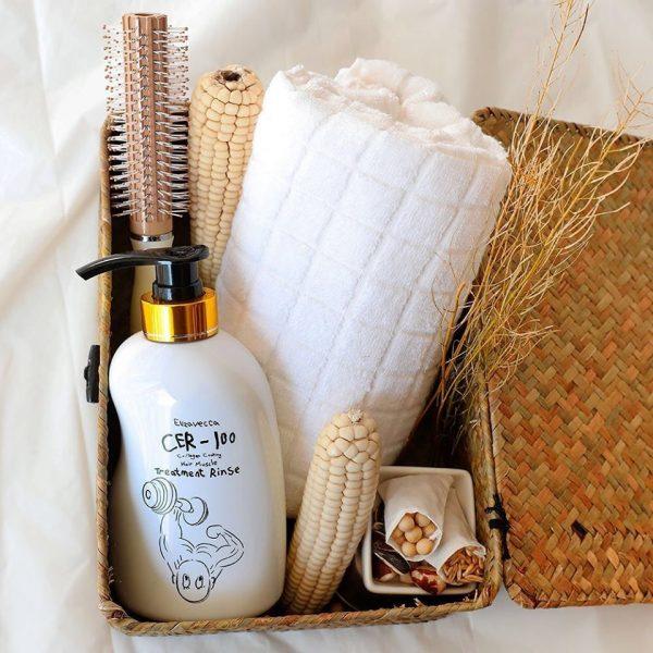 Маска-бальзам для волос с коллагеном Elizavecca CER-100 Collagen Coating Hair Muscle Treatment Rinse, 500ml. 3