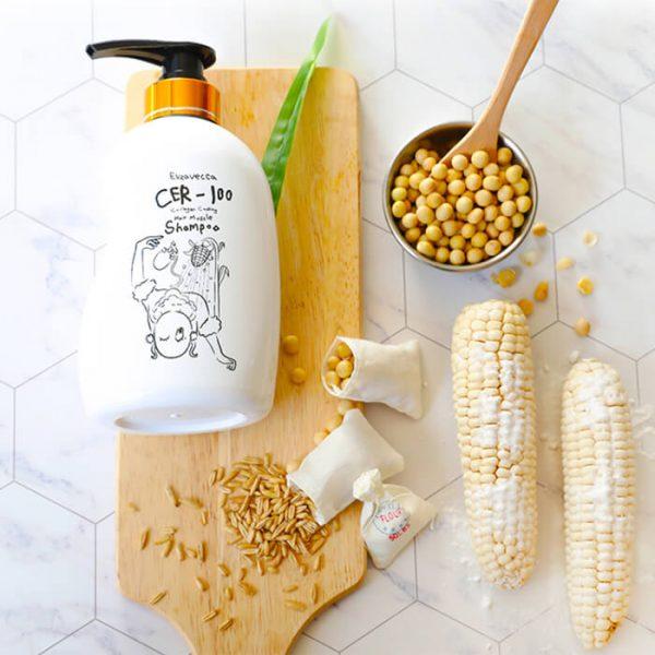 Шампунь для волос с коллагеном Elizavecca CER-100 Collagen Coating Hair Muscle Shampoo, 4