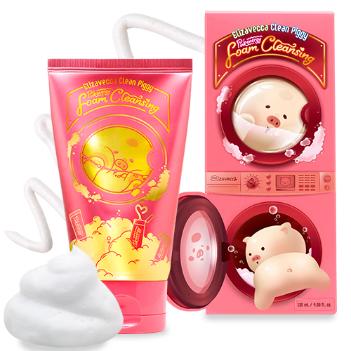 Elizavecca Clean Piggy Pinkenergy Foam Cleansing