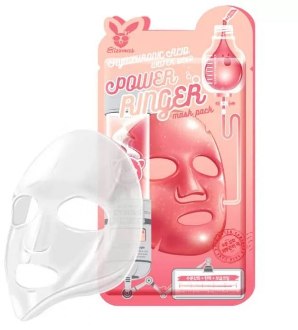 Маска для лица тканевая Elizavecca Hyaluronic Acid DEEP POWER RING MASK PACK